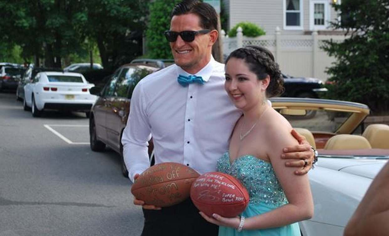 Steve Weatherford attends local Jersey City Prom with William L. Dickinson High School senior.
