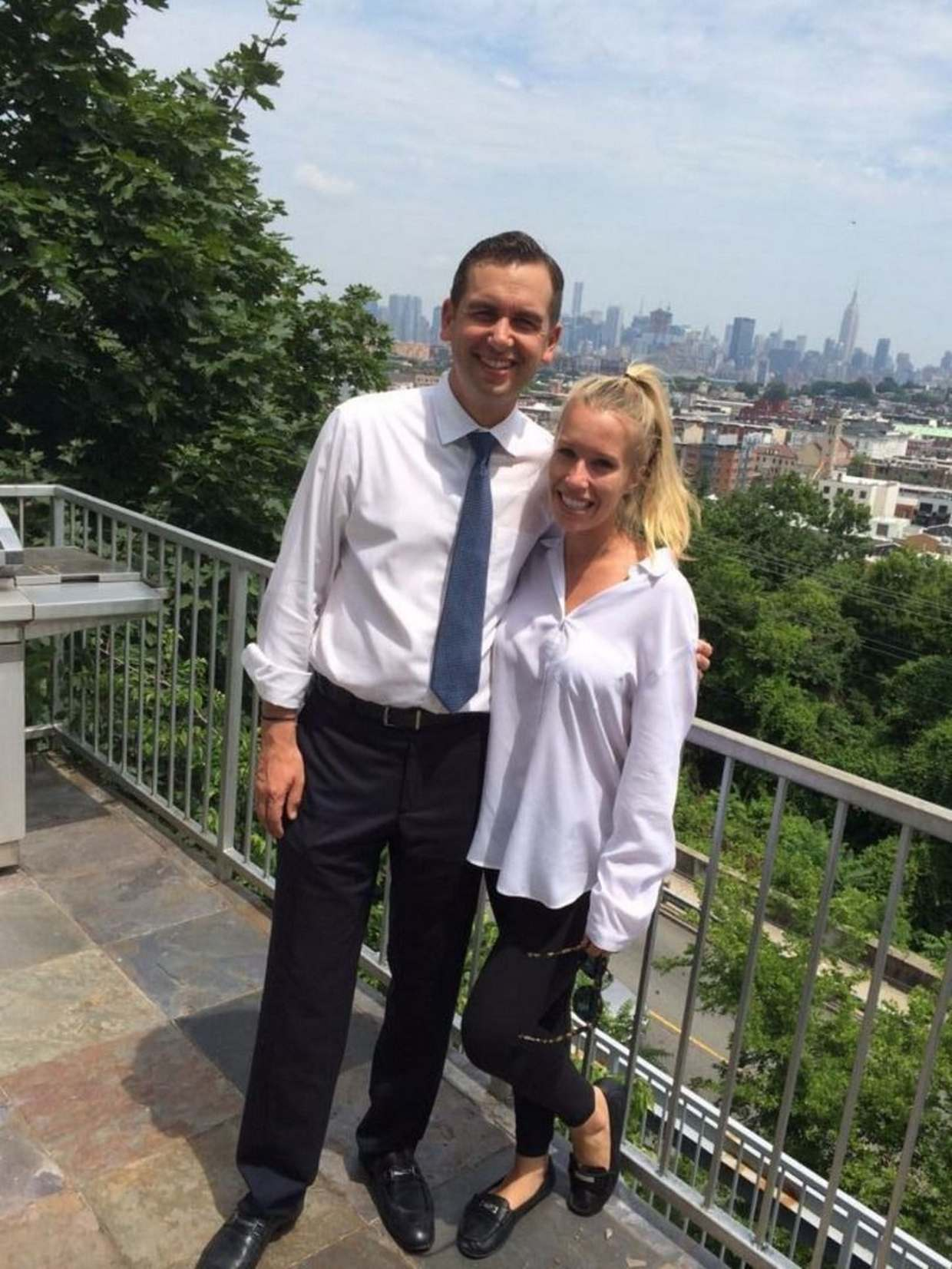 Mayor Fulop poses with girlfriend in Jersey City.