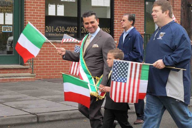 Carlo's Bakery in NJ kicked off the Jersey City parade for Columbus Day.