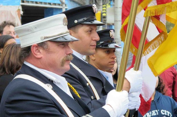 Jersey City Parade Standard Bearers on Columbus Day