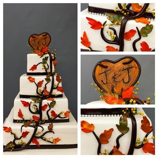Fall Wedding Cake Made by Carlo's bakery in NJ